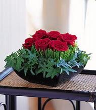 Trabzon anneler günü çiçek yolla  10 adet kare mika yada cam vazoda gül tanzim