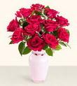 Trabzon uluslararası çiçek gönderme  10 kirmizi gül cam yada mika vazo tanzim