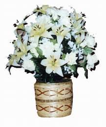yapay karisik çiçek sepeti   Trabzon çiçekçi telefonları