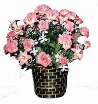 yapay karisik çiçek sepeti  Trabzon çiçek yolla