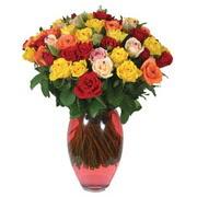 51 adet gül ve kaliteli vazo   Trabzon internetten çiçek satışı