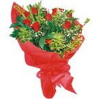 10 adet kirmizi gül buketi  Trabzon çiçekçiler