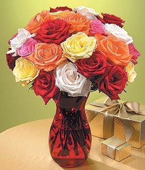 Trabzon İnternetten çiçek siparişi  13 adet renkli gül