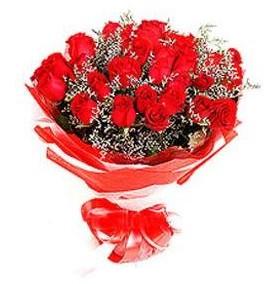 Trabzon çiçekçi telefonları  12 adet kırmızı güllerden görsel buket