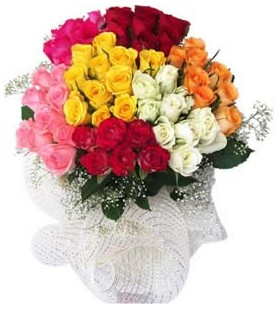 Trabzon çiçek siparişi vermek  51 adet farklı renklerde gül buketi