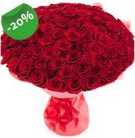Özel mi Özel buket 101 adet kırmızı gül  Trabzon İnternetten çiçek siparişi
