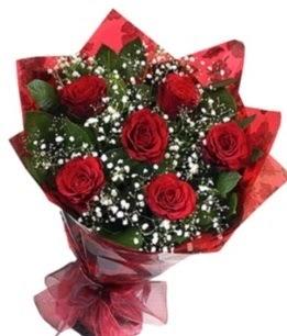 6 adet kırmızı gülden buket  Trabzon ucuz çiçek gönder
