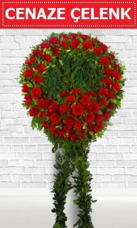 Kırmızı Çelenk Cenaze çiçeği  Trabzon çiçek siparişi sitesi