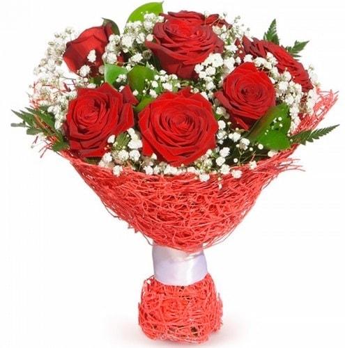 7 adet kırmızı gül buketi  Trabzon çiçek online çiçek siparişi